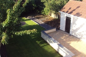 Garden from Master Bedroom, Luxury Holiday Home, Liverpool